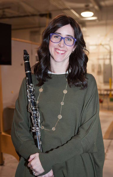 headshot with clarinet
