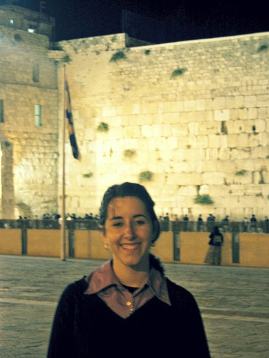 me davening at the kotel a year or so before I met my husband